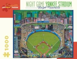 Night Game - Yankee Stadium Baseball Jigsaw Puzzle