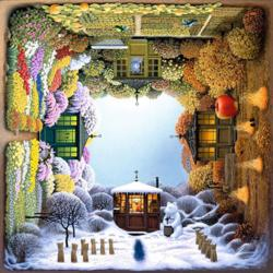 Four Seasons Garden Snow Jigsaw Puzzle