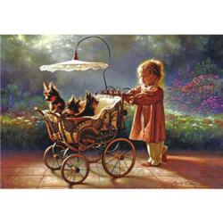 I Love New Yorkies Dogs Jigsaw Puzzle