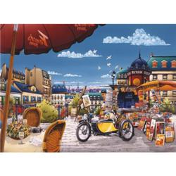 Newspaper Stand Street Scene Jigsaw Puzzle
