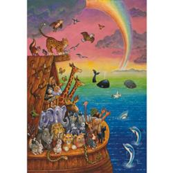 Noah and the Rainbow Religious Jigsaw Puzzle