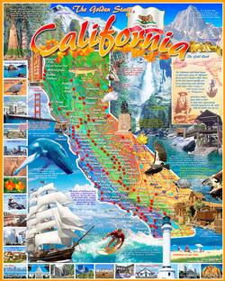 California State Map United States Jigsaw Puzzle