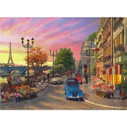 Seine Sunset Sunrise / Sunset Jigsaw Puzzle