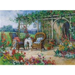 Sunny Morning Garden Jigsaw Puzzle
