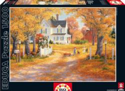 Autumn Leaves and Laughter Fall Jigsaw Puzzle