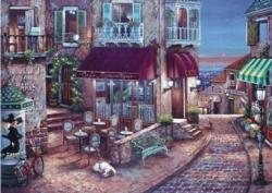Café Romantique Street Scene Jigsaw Puzzle