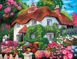 Flower Cottage (Collector) Cottage/Cabin Jigsaw Puzzle