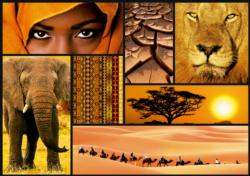 Colors of Africa Collage Jigsaw Puzzle