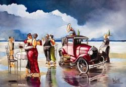 Dancing on the Beach Vehicles Jigsaw Puzzle