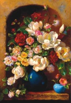 Floral Alcove Flowers Jigsaw Puzzle