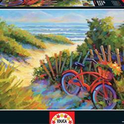 Fresh Flowers Seascape / Coastal Living Jigsaw Puzzle