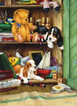 Intruders Dogs Jigsaw Puzzle