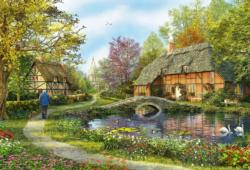 Meadow Cottages Lakes / Rivers / Streams Jigsaw Puzzle