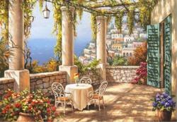 Morning Terrace Seascape / Coastal Living Jigsaw Puzzle