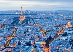 Paris Lights Skyline / Cityscape Jigsaw Puzzle