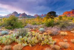 Red Rock Dusk Arizona Sunrise/Sunset Jigsaw Puzzle
