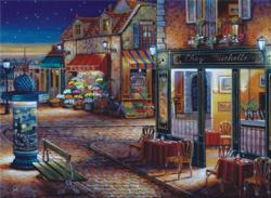 Starry Night Street Scene Jigsaw Puzzle