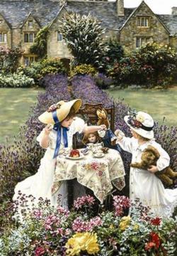Teatime at Garden Garden Jigsaw Puzzle