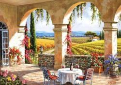 Wine Country Terrace Landscape Jigsaw Puzzle