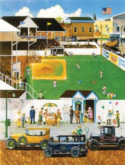 Before the Big Game - Scratch and Dent Street Scene Jigsaw Puzzle