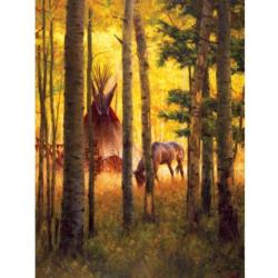 Deep Forest Camp Outdoors Jigsaw Puzzle