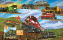 For the Love of Trains Trains Jigsaw Puzzle