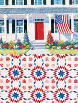 Red, White and Blue Quilting & Crafts Jigsaw Puzzle