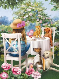 Tea Party Outdoors Jigsaw Puzzle