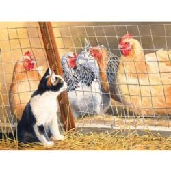 Visit with Hens - Scratch and Dent Kittens Jigsaw Puzzle