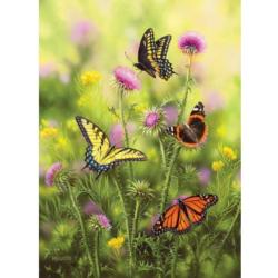 Butterflies and Thistle Flowers Jigsaw Puzzle