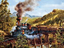 Smoke, Steam and Timber Bridges Jigsaw Puzzle
