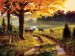 A Bend in the Road Deer Jigsaw Puzzle