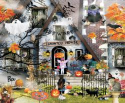 Haunted House Collage Jigsaw Puzzle