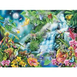 After Midnight Waterfalls Jigsaw Puzzle