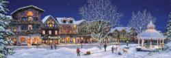 Hometown Holiday Street Scene Jigsaw Puzzle