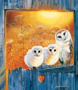 Owls in the Window Farm Animals Jigsaw Puzzle