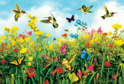 Hummingbird Fields Nature Jigsaw Puzzle