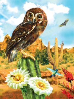 Elf Owl Flowers Jigsaw Puzzle