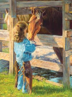 Morning Chores Horses Jigsaw Puzzle