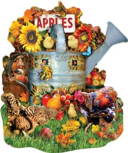 Fall Watering Can Thanksgiving Jigsaw Puzzle