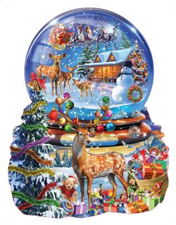 Christmas Snow Globe Winter Shaped