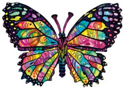 Stained Glass Butterfly Butterflies and Insects Jigsaw Puzzle