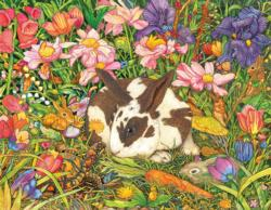 Bunnies in the Garden Spring Jigsaw Puzzle