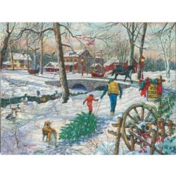 Pine Creek Mills Snow Jigsaw Puzzle