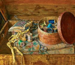The Sewing Basket - Scratch and Dent Quilting & Crafts Jigsaw Puzzle