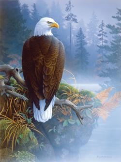 Eagle in the Mist Wildlife Jigsaw Puzzle
