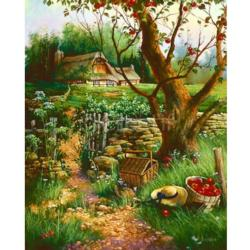 Under The Apple Tree Cottage/Cabin Jigsaw Puzzle