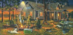 Campfire Memories Outdoors Jigsaw Puzzle