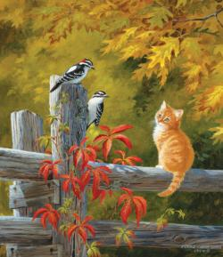 Observation Deck Kittens Jigsaw Puzzle