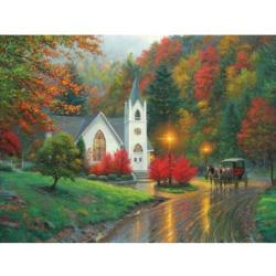 Autumn Chapel - Scratch and Dent Churches Jigsaw Puzzle